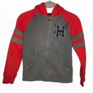 TOMMY HILFIGER Youth's Small Zip Up Hooded Sweater